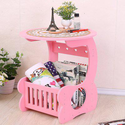 Mini Round Table Simple Modern Style Coffee Table Pink