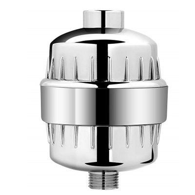 High Output Universal Shower Replaceable Multi Stage Filter Cartridge-Chrome