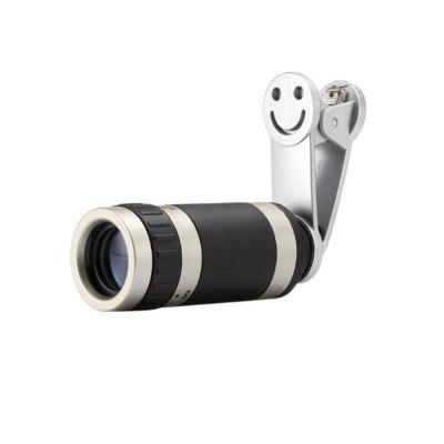 Universal 8x Zoom Telescope Telephoto Camera Lens with Smile Clip