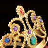 Halloween Christmas Birthday Queen Crown Head Gear Adjustable Cosplay Masquerade - GOLD