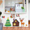 Christmas Decorations Stickers Reindeer Snowflakes Christmas Tree Wall Sticker - MULTI-A