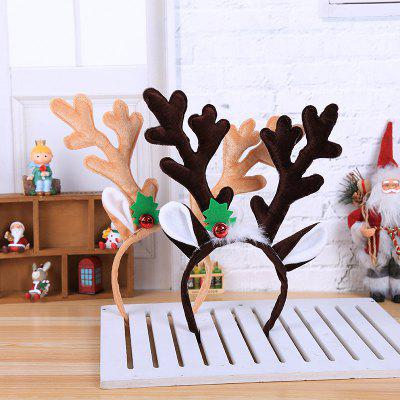 Wear A Large Antler Headband for Christmas