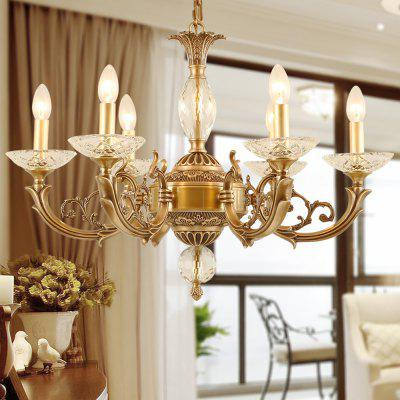 All Copper Crystal 6 Chandeliers