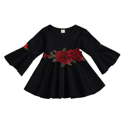 New Autumn Winter Girls Roses Trumpet Skirts Fashion Skirts