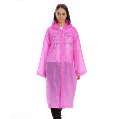 Transparent Clear Reusable Raincoat With Hood and Sleeves for Unisex Adult