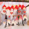 New Christmas Supplies Creative Old Man Doll White Pine Nut Doll Hanging Decorat - MULTI-D