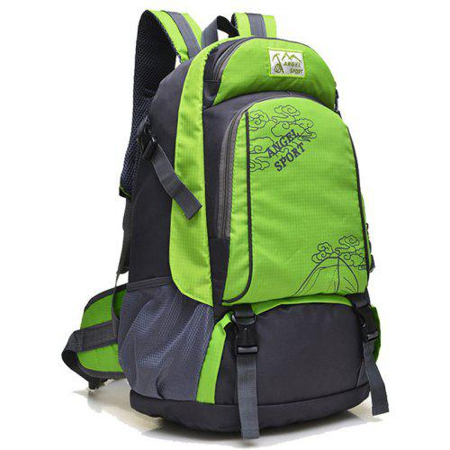 ZDD Outdoor Backpack Mountaineering Bag Sports Shoulder Bag 40L Men and Women Large Capacity Leisure Travel Travel Bag New Bag Color : Fruit Green