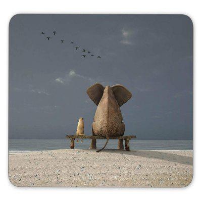 Non Slip Rubber Gaming Thinking Pig Mousepad