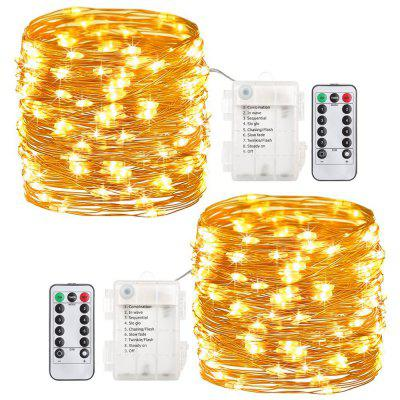 ZDM 2PCS Waterdicht 10M 100LED Silver Thread String 8 Modes Fairy String Lights