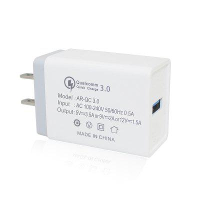 Minismile 18W QC3.0 Quick Charge Power Adapter Wall Travel Fast Charger US Plug