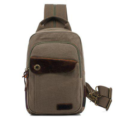 Outdoor Durable Cotton Canvas Small Size Chest Cross Bag for Men