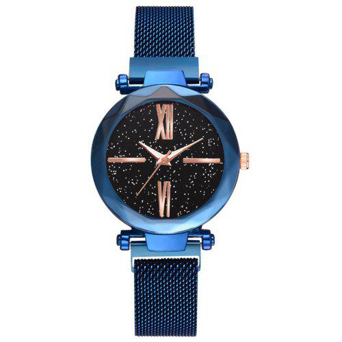 XR2979 Magnet Iron Lazy Ladies Watch Starry Sky Watch