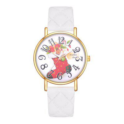 XR2966 Christmas Shoes Explosion Watch Gift Ladies Fashion PU Watch