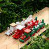 New Christmas Train Painted Wood with Snowman/Bear Xmas Kid Toys Gift Ornament - RED