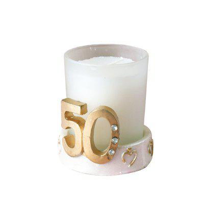 50th Anniversary Golden Wedding Candle Cup Candlestick