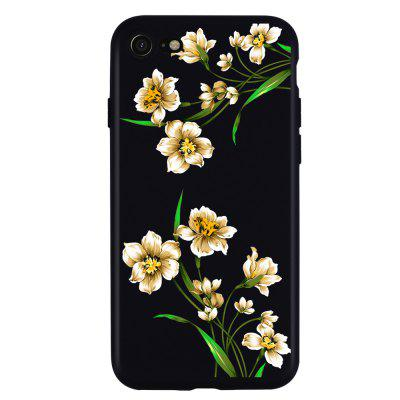 Pattern Flowers Soft Phone Case Cover TPU Protective for iPhone 7
