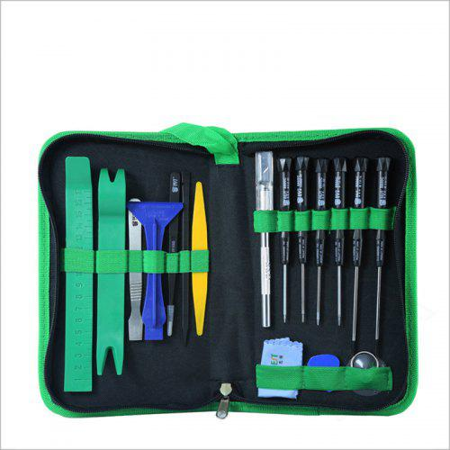 for IPhone Mobile Phone Computer Repair Screwdriver Combination Suit - GREEN