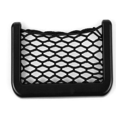 Car net bag bag seat storage bag mobile phone sundry box with double-sided rubbe