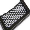 Car net bag bag seat storage bag mobile phone sundry box with double-sided rubbe - NATURAL BLACK
