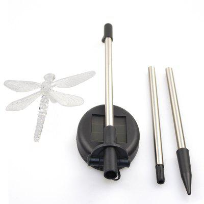 1PCS Solar Color Changing Outdoor Garden Pathway Stake LED Dragonfly Light