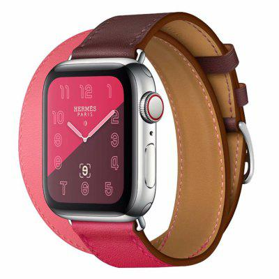 for Apple Watch Band 4/3/2/1 Two-Ring Leather Watch Band Smart Watch Band