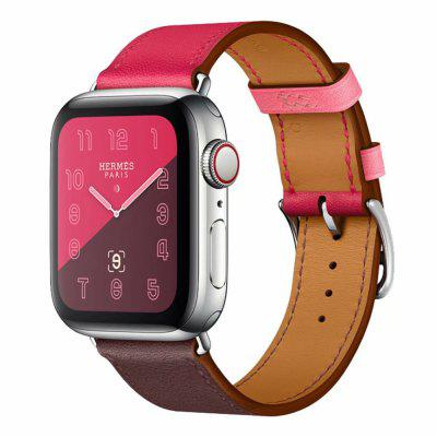 for Apple Watch Band 1/2/3/4 for Hermes Monochrome Leather Smart Watch Band