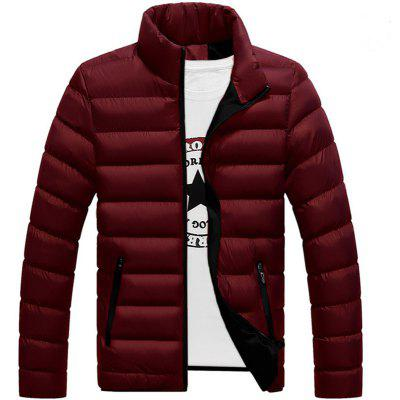 New Stand Collar Cotton Waterproof Zipper Autumn and Winter Coat