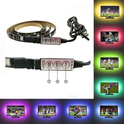OMTO LED Light DC5V 5050 SMD RGB USB-kabel LED Striplicht TV Achtergrondverlichting 1M 2M