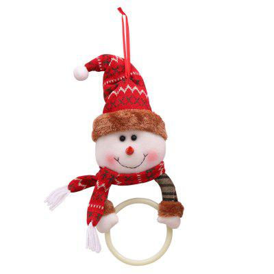 YEDUO Christmas Clothes Napkin Circle Home Pendant Towel Ring