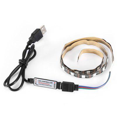 1M 3,5W DC5V USB RGB 5050 LED Strip Light con 24 tasti Set di telecomando