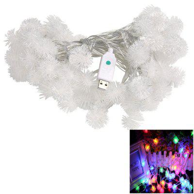 USB 10M LED-uri String Luminile 8MODES Snow Ball Light Crăciun nunta Party 5V