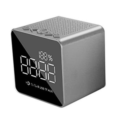 Mirror Bluetooth Portable Wireless Speaker with LED Alarm Clock Support USB TF A