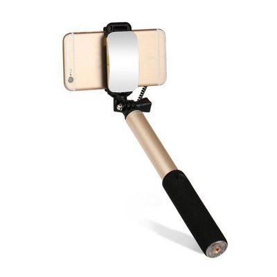 Fashion Mini Selfie Stick Monopod with Mirror for Smartphone