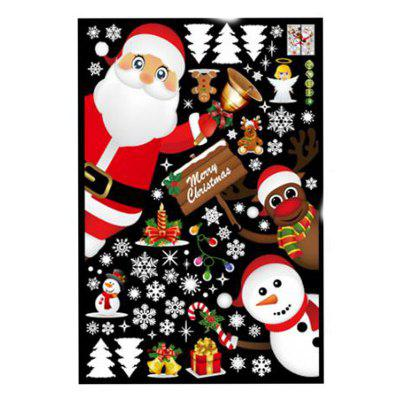 Porte e accessori di Windows Store Window Glass Christmas Scene Decorate Wall S