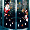 Doors and Windows Accessories Store Window Glass Christmas Scene Decorate Wall S - RED