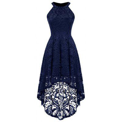 Women's Lace Neck Sleeveless Dress