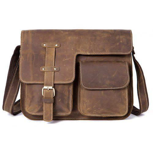 MVA 1050 Men'S Single Shoulder Messenger Bag Leather Men'S Bag