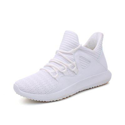 Men Flying Woven Mesh Lightweight Breathable Casual Sports Running Shoes