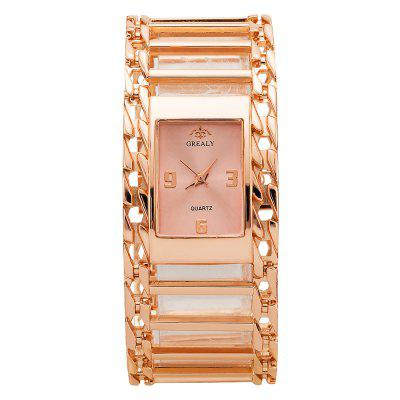 GREALY Female Fashion Watch Chain Alloy Hollow Retro Watch