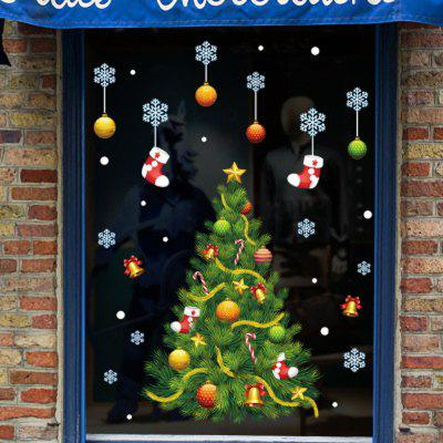 Christmas Decoration Supplies Window Pasted Christmas Snowflake Tree Doors Paste