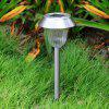 10 pack Stainless Steel 1-LED Solar Lawn Light Pathway Walkway Garden Lamp - WARM WHITE