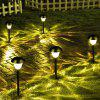 10 pack Solar Plastic 1-LED Lawn Light Pathway Walkway Garden Lamp - WARM WHITE