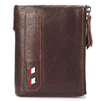 Vintage Genuine Cow Leather Men Wallet Coin Purse Wallets with Coin Pocket