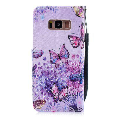 Butterfly Protection Holster Flip Phone Case for Samsung S 8