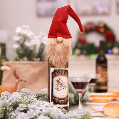 YEDUO Decorazioni natalizie Faceless Old Man Doll Bottiglia di vino Set Wine Bag
