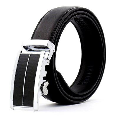 Men's Business Leather Belt Automatic Buckle Belt