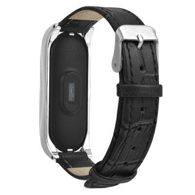 Leather Replacement Wristband Wrist Strap for Xiaomi Mi Band 3