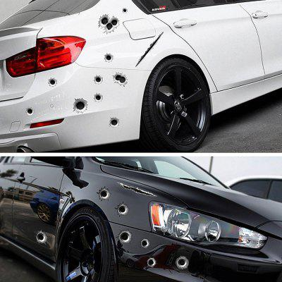 Personality simulation bullet hole car sticker 3D solid body sticker