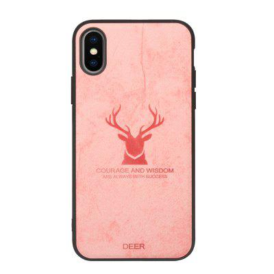 High quality PU fabric high temperature embossed pattern case for iPhone Xs