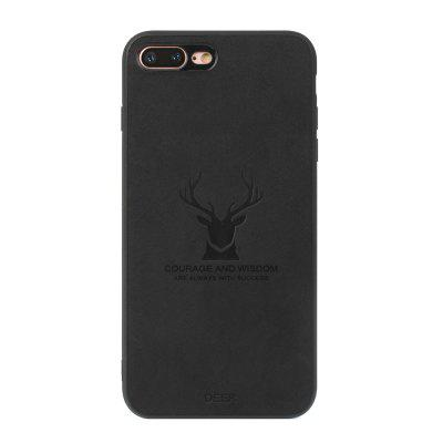 High Quality PU Fabric High Temperature Embossed Pattern Case for iPhone 8 Plus